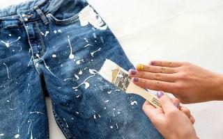 Как оттереть от джинсов краску и другие пятна — быстрые и действенные способы