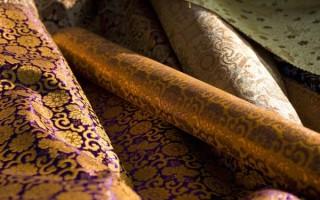 Златотканая парча: разновидности, как выглядит ткань, цена за метр, отзывы