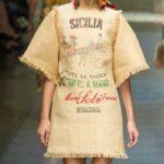 Мешковина платье
