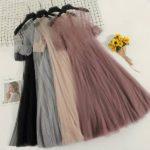 Фатин платье с рукавом