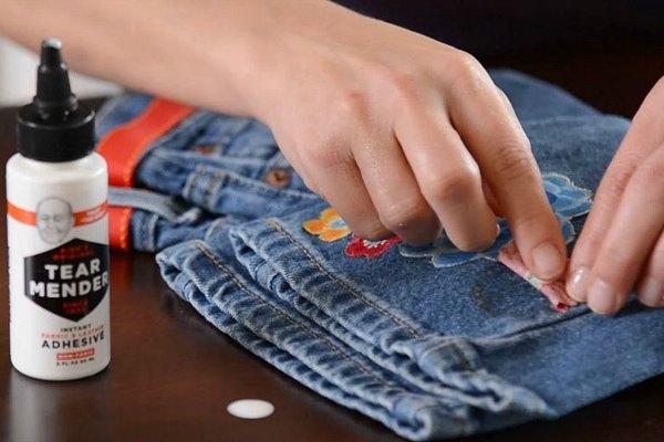 Клей на одежде