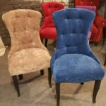 Обивка стульев велюром