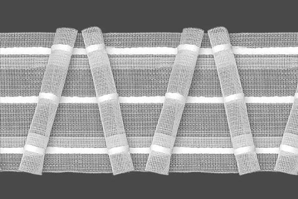Встречные складки шторная лента