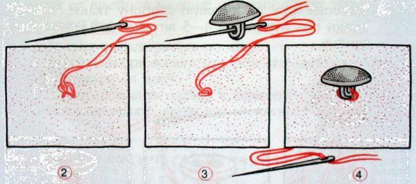 Инструкция как пришить пуговицу на ножке