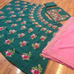 индийское сари из шелковой тафты